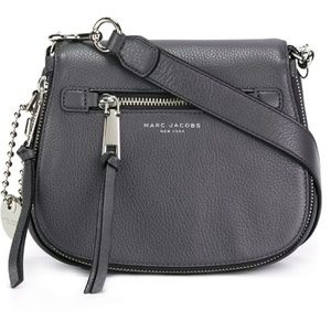 Marc Jacobs Recruit Saddle Crossbody Bag Gray